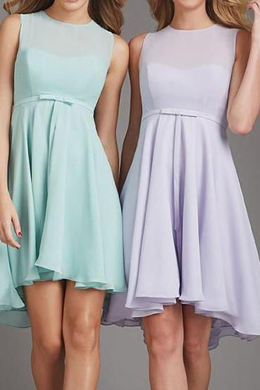 Bridesmaid Dresses,Short Bridesmaid Dresses,Chiffon Bridesmaid Dresses,Bridesmaid Dresses Knee Length,Bridesmaid Dresses A-line,Cheap Bridesmaid Dresses,Bridesmaid Dresses Plus Size