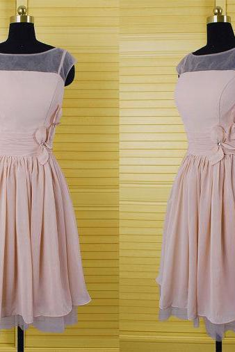 Hot sale Prom Dress,Cap Sleeve Prom Dress,A-line Prom Dress, Short Party Dress,Strapless Homecoming Dress,Chiffon Homecoming Dress