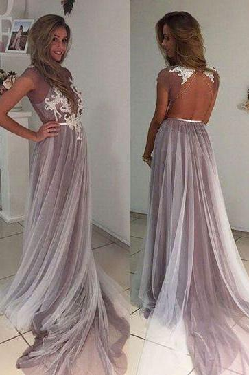 Charming Prom Dress,Backless Prom Dresses,Sexy Evening Dress,Long Evening Dresses,Lace Prom Party Dress ,Prom Dresses Long Sexy