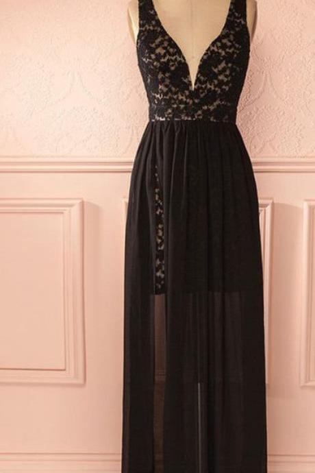 Long Prom Dress,Black Prom Dress,Sexy Prom Dress,Long Lace Prom Dress,Teens Prom Dress,Charming Prom Dress,High Slit Party Dress,Long Evening Dress,Fashion Formal Dress,Long Party Dress