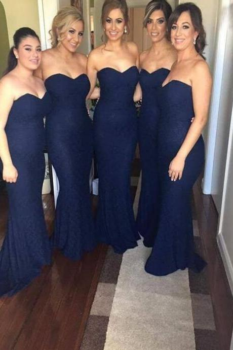 Navy Blue Bridesmaid Dresses on Luulla