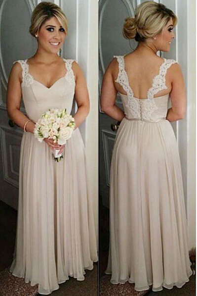 Bridesmaid Dresses,Cheap Bridesmaid Dresses,Sweetheart Long Bridesmaid Dresses,A-Line Bridesmaid Dresses,Scoop Bridesmaid Dresses,Lace Bridesmaid Dresses,Chiffon Bridesmaid Dresses,Long Bridesmaid Dresses