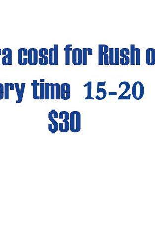 Extra Cost Of Rush Order